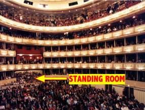 Vienna Opera House Seating Plan Ich Kann Nicht Sitzen Standing Room At The Vienna State Opera Likely Impossibilities