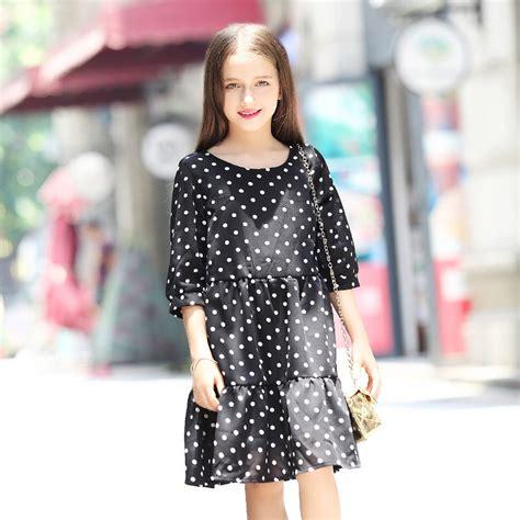 Blouse Age613 aliexpress buy baby dresses 2016 black polka dot chiffon dress white dotted clothing