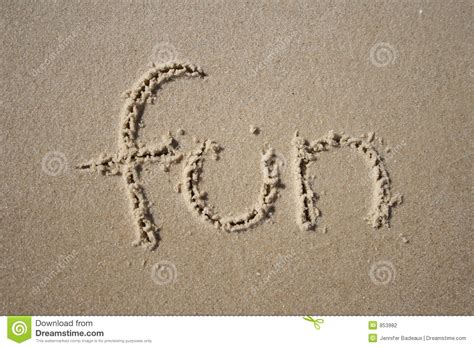 Fan Sanden in the sand stock photo image of coastal sand