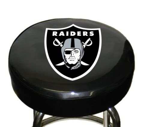 Nfl Bar Stool Covers by Nfl Oakland Raiders Bar Stool Cover
