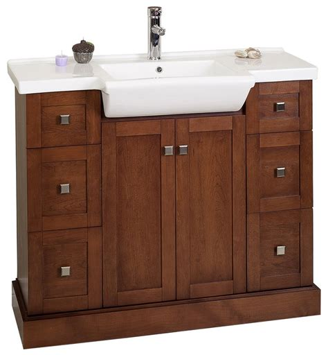 40 bathroom vanity with sink amimage 40 inch single sink bathroom vanity cherry finish