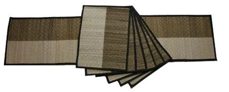 Black And White Table Mats by Black And White Table Runner And Placemats