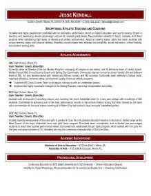 Education Resume Template Word by Free Phys Ed Resume Exle