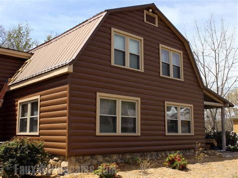 log home style siding log style vinyl panels rustic cabin look for less