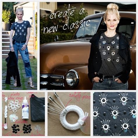 Wardrobe Refashion Wants You To Stop Buying Clothes by Diy Embellished T Shirt