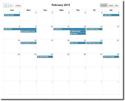 templates bootstrap events bootstrap calendar formget