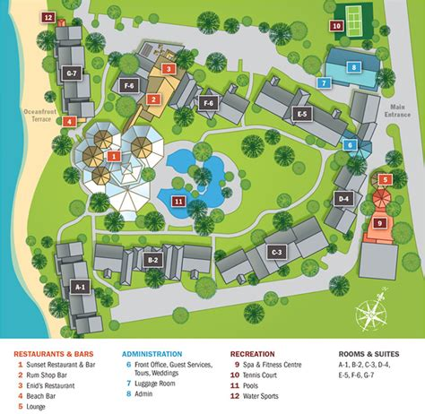 The Beach Club & Vacation Barbados All Inclusive Resort Map