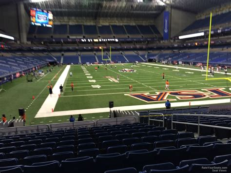 jam section plaza endzone alamodome football seating rateyourseats com
