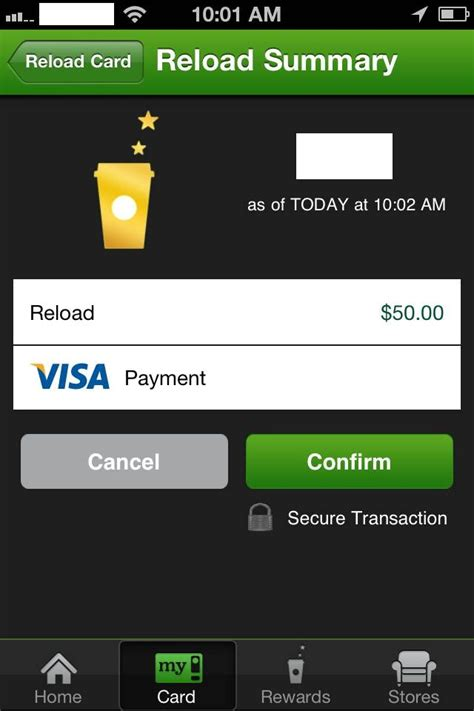 Starbucks Reload Gift Card - how to use the starbucks card mobile app 5 steps with pictures