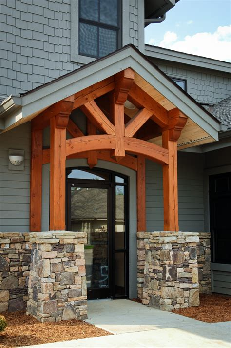 home entry timber frame entryways