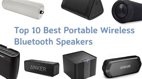 best portable speaker the best portable bluetooth speakers