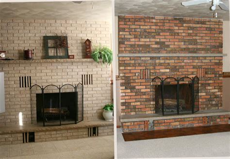 paint brick fireplace before after fireplace designs