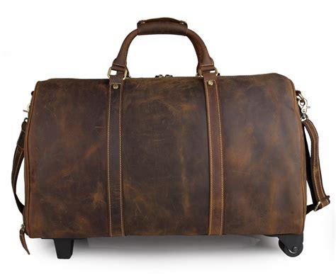Unique Travel Bag Murmer aliexpress buy freeship handmade leather unique tote luggage wheel travel