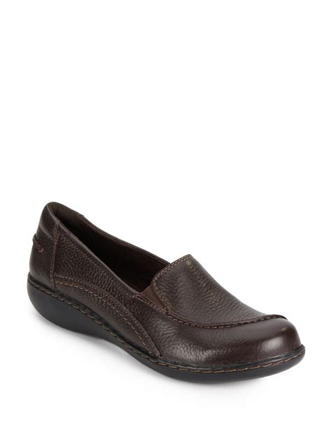 clarks ashland violet leather shoes in brown lyst