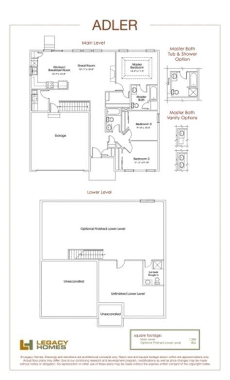 redmond floorplan legacy homes house floor plans