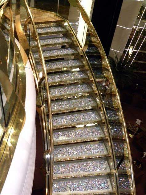 glitter wallpaper on stairs glitter stairs home stairway to heaven pinterest