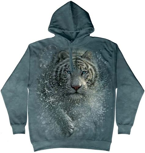 Tiger Hoodie white tiger hoodie and shirts organic dyes