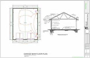 Garage Workshop Floor Plans by 36 X 46 Workshop Garage Floor Plans Blueprints