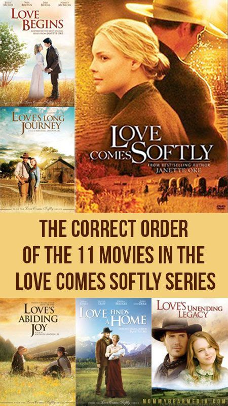 film love begins a list of the correct order of the 11 movies in the love