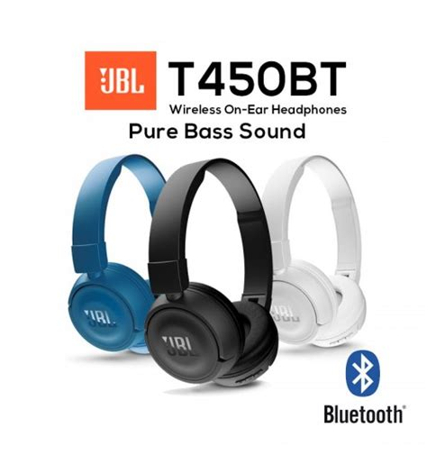 Jbl T450bt Wireless Headphone White jbl e25bt wireless bluetooth signature sound in ear headphones