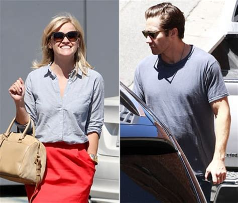 New Alert Reese And Jake by Reese Witherspoon Ex Jake Gyllenhaal Narrowly Avoid Run