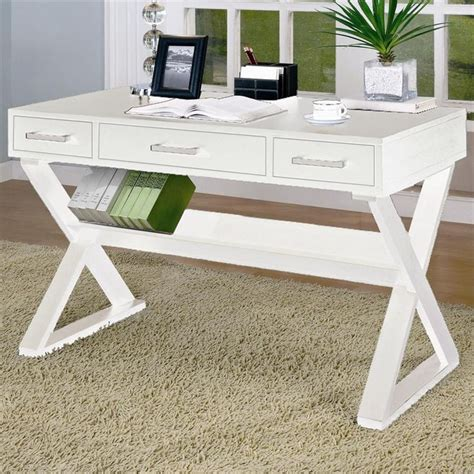 white wood writing desk w drawers furniture