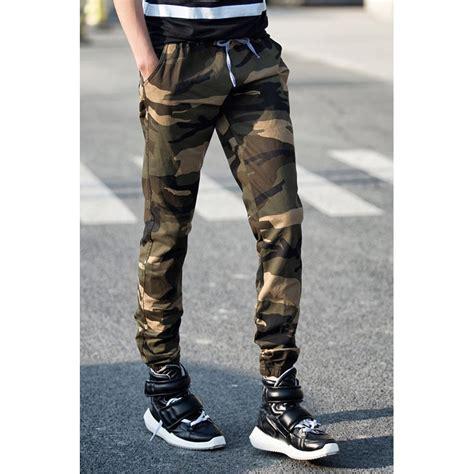 Celana Pria 6 celana jogger pria motif tentara size l green