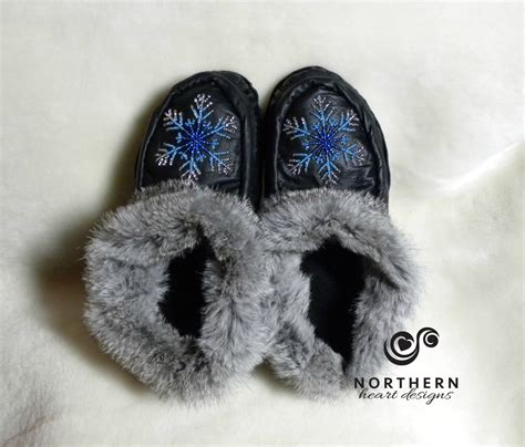 simple beaded moccasins slippers northern designs