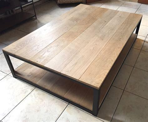 table basse acier noir et ch 234 ne massif meubles et