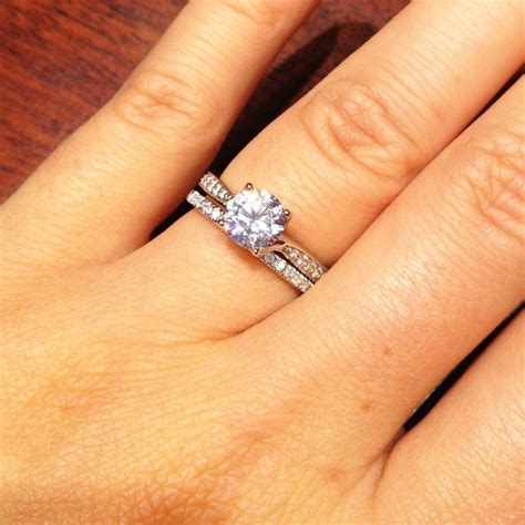 engagement and wedding band 1 carat solitaire engagement ring wedding band