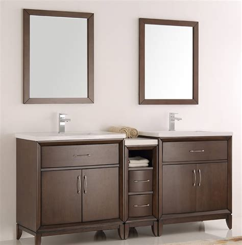 72 inch bathroom mirror 72 inch antique coffee finish double sink traditional