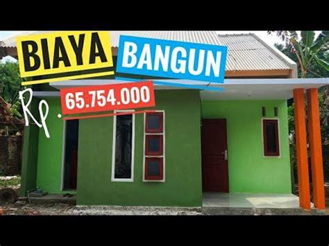 biaya pembangunan rumah sederhana
