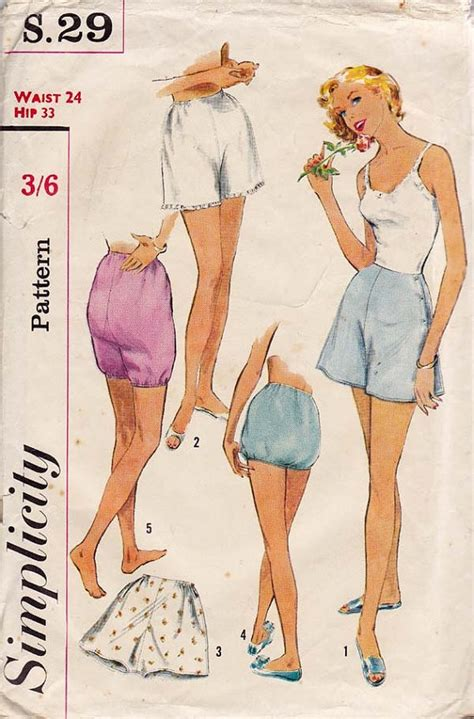 vintage underwear pattern 505 best images about vintage knickers and panties on