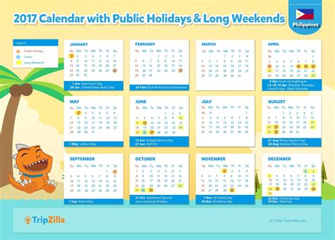 printable calendar 2017 philippines with holidays 2017 calendar philippines 2017 calendar printables