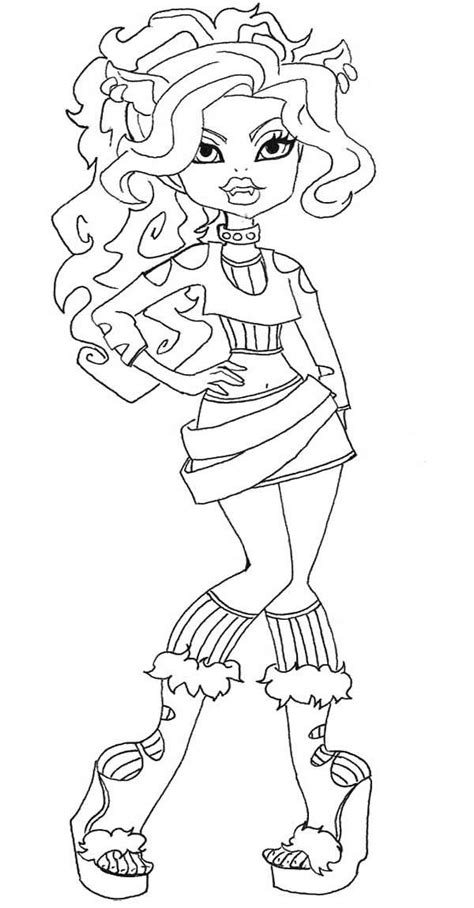 clawd wolf coloring pages hellokids com 83 best images about monster high on pinterest wolves