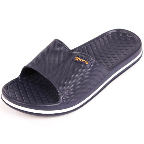 sports house shoes mens slip on sport slide sandals flip flop shower shoes slippers house pool gym