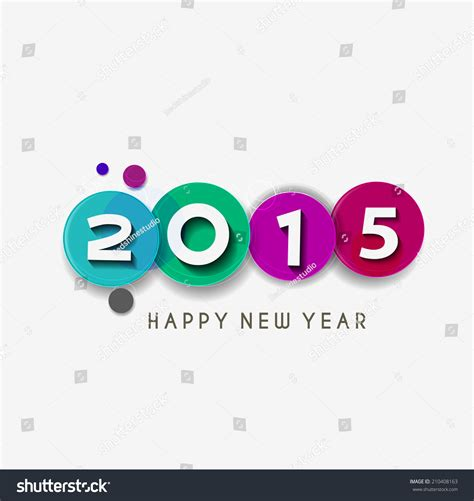 happy new year text vector happy new year 2015 text design stock vector illustration