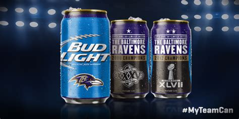 bud light superbowl cans bud light s ravens bowl cans report