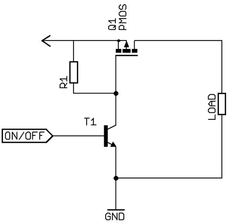 transistor mosfet switch transistors p channel mosfet high side switch electrical engineering stack exchange