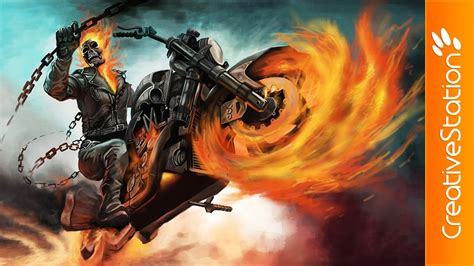 spray paint ghost rider ghost rider speed painting photoshop