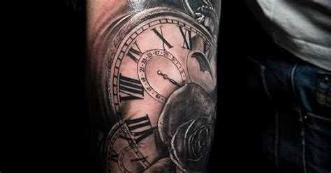 extreme tattoo piercing inverness clocks and rose done at extreme tattoo piercing inverness