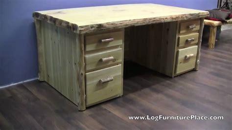 Rustic Corner Desk by Cedar Lake Executive Log Desk Rustic Desk From