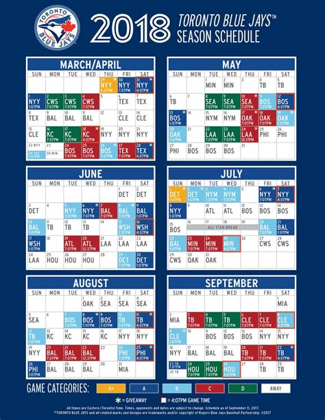 Blue Jays Giveaway Schedule - overview for vager88