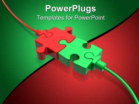 templates powerpoint powerplugs powerpoint template a beautiful depiction of two puzzle