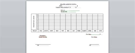 format absensi guru manual contoh format grafik absensi siswa quality education for all