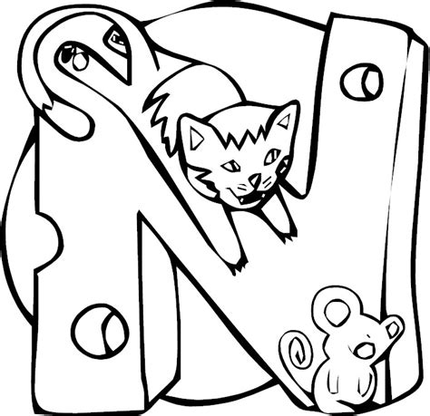 n coloring pages preschool letter n coloring pages preschool kids under letter n