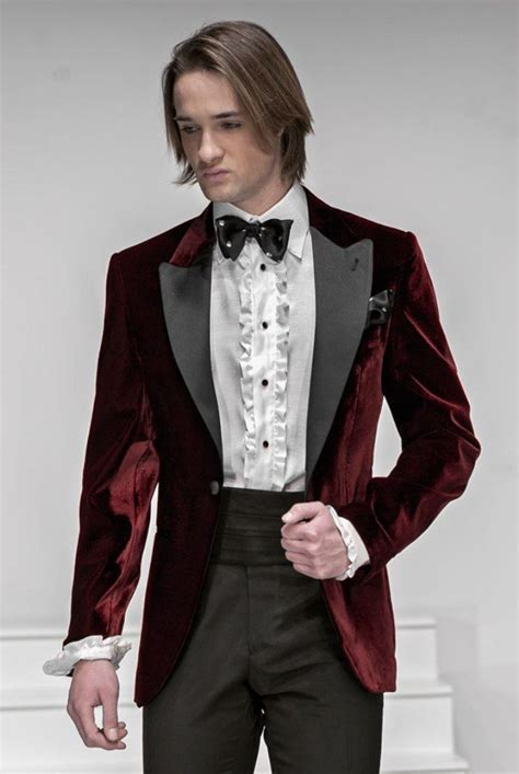 Men Designer Wedding Groom Tuxedo Dinner Velvet Suit Coat