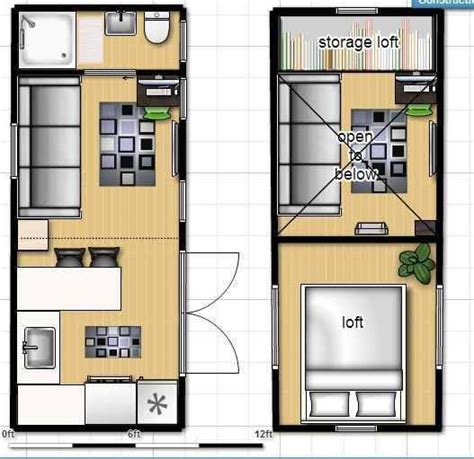 Tiny House On Wheels Floor Plan With Single Loft How Tiny House Layout Plan