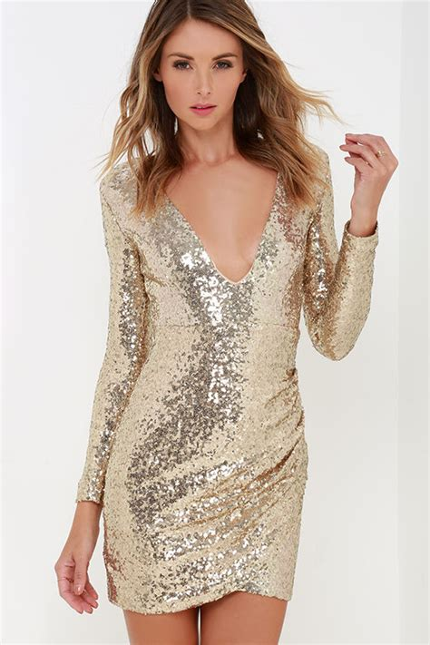 Maxi Tiesquare pretty gold dress sequin dress sleeve dress 54 00