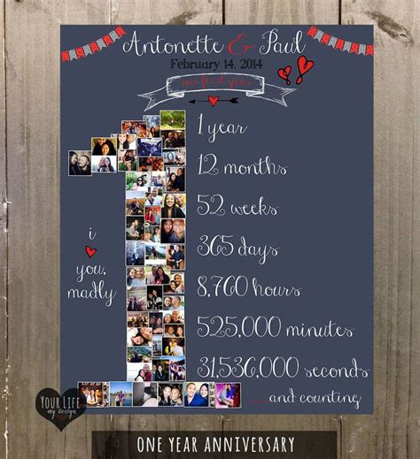Wedding Anniversary Collage Ideas by 17 Best Ideas About Gifts For On